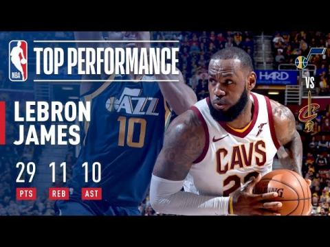 LeBron James Passes Larry Bird For Most Career Triple Doubles  vs The Utah Jazz