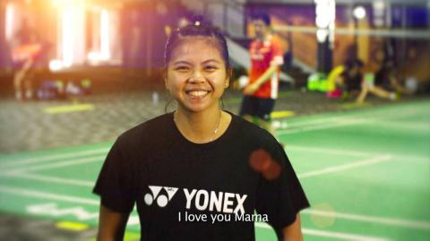 """Happy Mother's Day"" message from Greysia Polii 