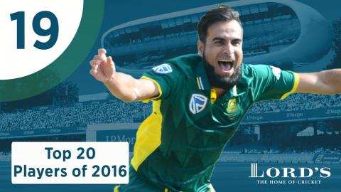 19) Imran Tahir | Lord's Top 20 Players of 2016