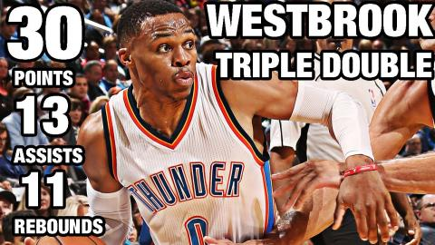 Russell Westbrook 4th Triple Double of the Season | 11.18.16