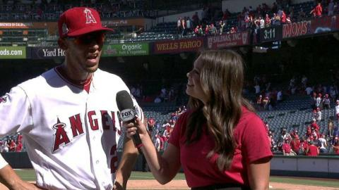 TEX@LAA: Simmons talks about belting two home runs