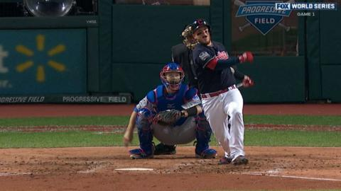 WS2016 Gm1: Perez hammers a solo homer to left field