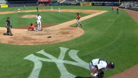 HOU@NYY: Castro scores on Shreve's wild pitch in 5th