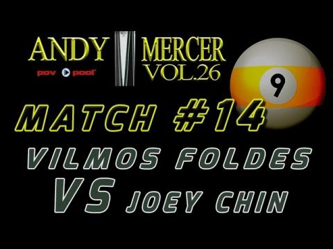 #14 • 2016 Mercer 9-Ball • Vilmos FOLDES vs Joey CHIN