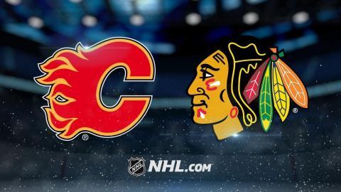 Three straight goals lead Flames past Hawks, 3-2