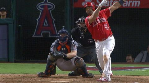 HOU@LAA: Pujols hits solo homer, passes Thome