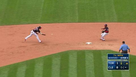 TOR@CLE: Olson induces double play to finish the game