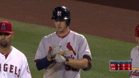 STL@LAA: Piscotty adds to the lead with an RBI single