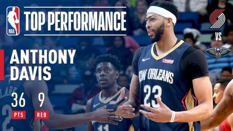 Anthony Davis Defends Home Court vs The Blazers