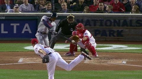 ATL@WSH: Smith's first major-league hit