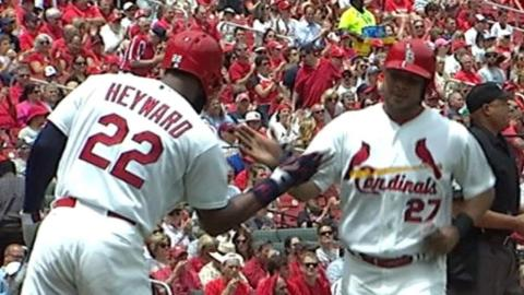 MIL@STL: Cardinals jump out early with five-run 1st