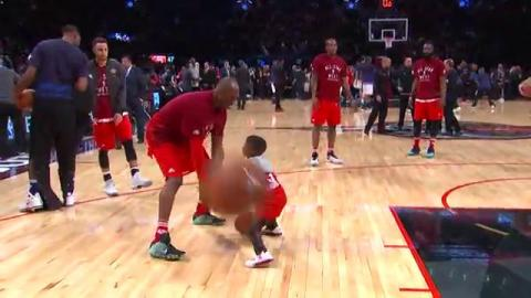 Kobe Bryant Balls with CP3 and Flash Jr.