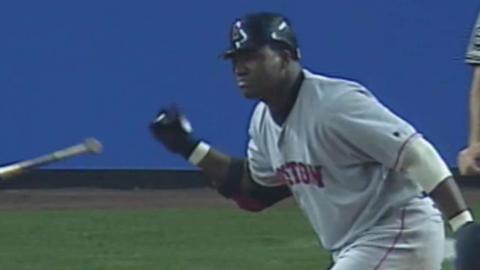 2003 ALCS Gm1: Ortiz hits his first postseason homer