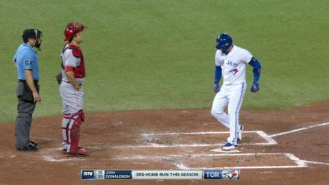 CIN@TOR: Donaldson mashes an upper-deck homer