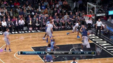 Zach LaVine Goes Up and Under for the Reverse Lay-Up with Hangtime