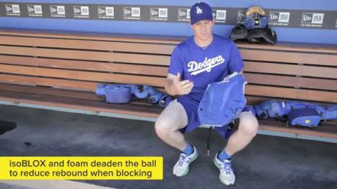 A.J. Ellis and the new Wilson ProMOTION Catcher's Gear