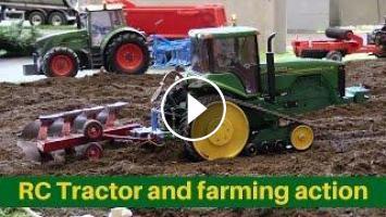 RC Tractors Fendt 936 John Deere 8310T In Action