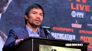 The Final Mayweather/Pacquiao Press Conference: HBO Boxing News