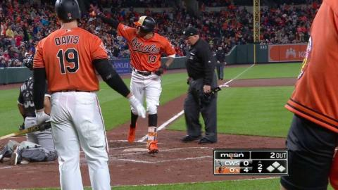 CWS@BAL: Machado lines a solo homer to left field