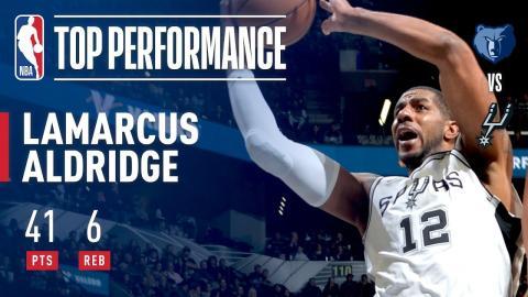 LaMarcus Aldridge Scores Season-High 41 Points vs. Grizzlies | November 29, 2017