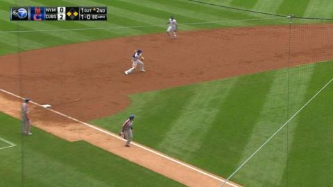 NYM@CHC: Cubs turn around-the-horn double play