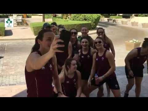 Irish Rugby TV: Ireland Women's 7s in the gym in Dubai