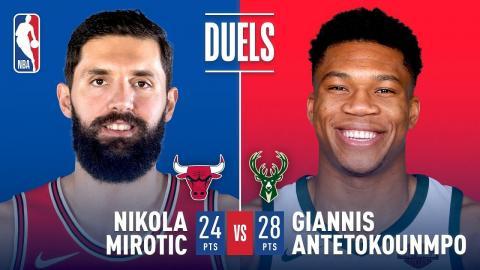 Nikola Mirotic and Giannis Antetokounmpo Duel in Milwaukee | December 26, 2017