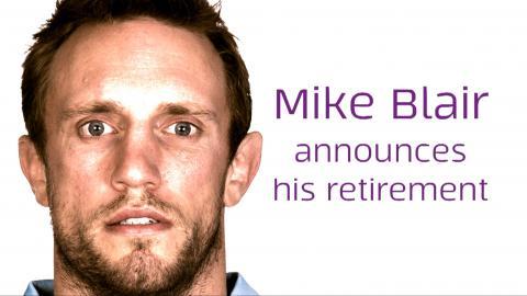 Mike Blair announces his retirement
