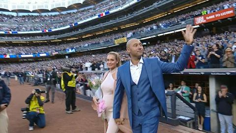 HOU@NYY: Yankees introduce Jeter during ceremony