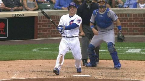 LAD@CHC: Rizzo collects a double in the 5th