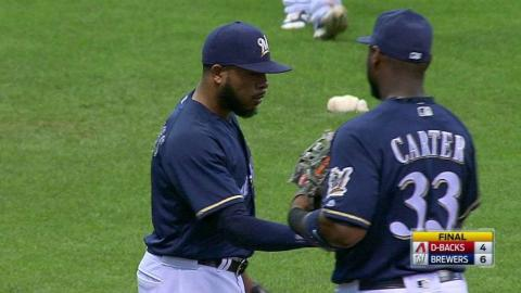 ARI@MIL: Jeffress retires Bourn to seal victory