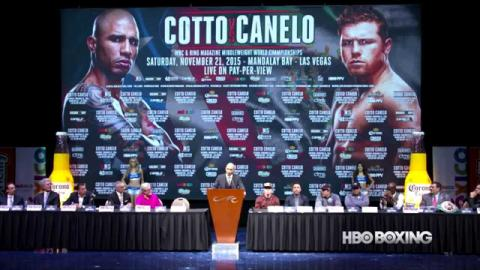 Cotto-Canelo Final Press Conference: HBO Boxing News