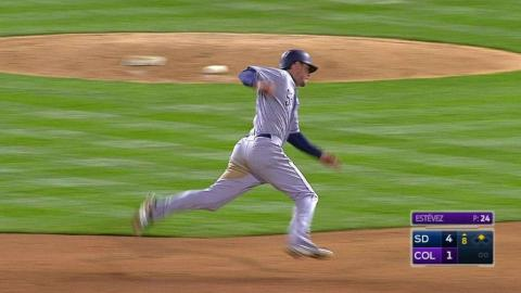 SD@COL: Myers triples, completes second Padres' cycle