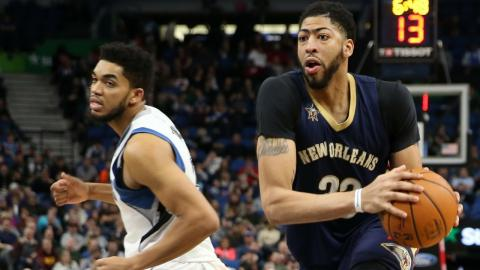 Anthony Davis & Karl-Anthony Towns Duel in Minnesota | 02.10.17