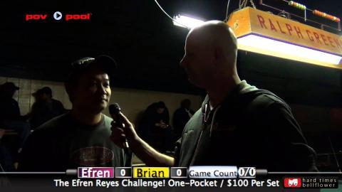 Pt 1  - Efren Reyes vs Brian Cady / The Efren Reyes Challenge!