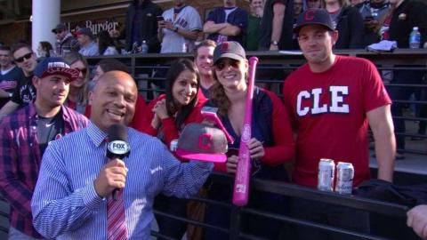MIN@CLE: Fan shows off breast cancer awareness bat