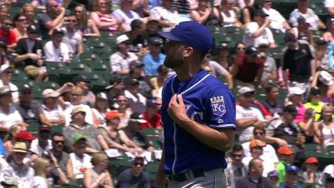 KC@CWS: Merrifield catches the liner to end the 1st