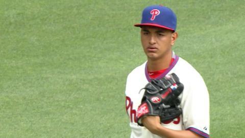 WSH@PHI: Gonzalez strikes out seven over 5 1/3 frames