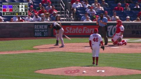 COL@WSH: Descalso shaken up after being plunked