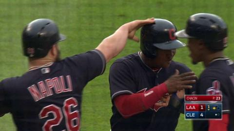 LAA@CLE: Chisenhall clears the bases with a double