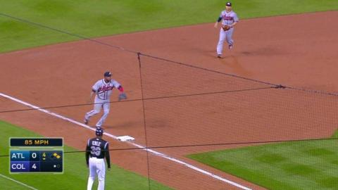 ATL@COL: Uribe turns double play to end the 4th