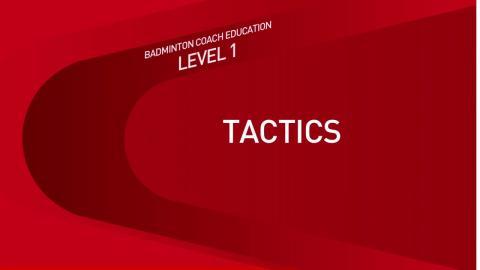 CE1M8V1 Tactique - Introduction