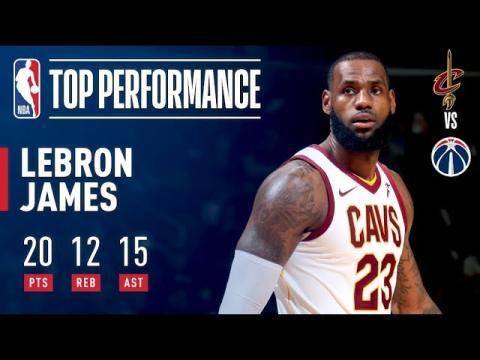 LeBron James Tallies THIRD Straight Triple Double