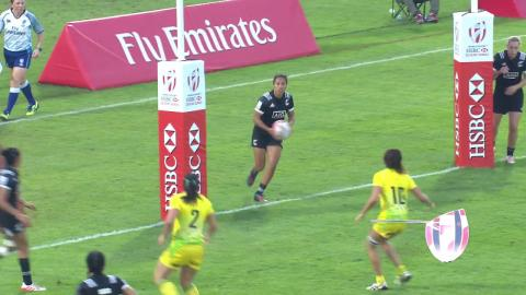 Seven AWESOME tries from the women's Dubai Sevens!