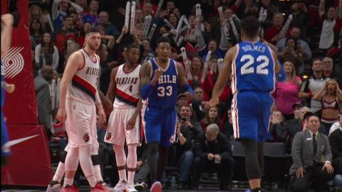 Robert Covington Send the Game to OT At The Buzzer! | 03.09.17