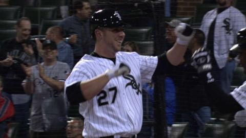 DET@CWS: Fields belts a homer in first MLB at-bat