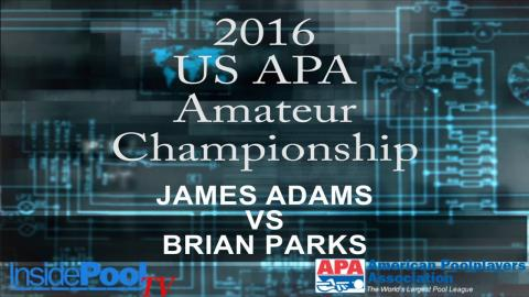 2016 U S  APA Amateur Championship James Adams vs Brian Parks