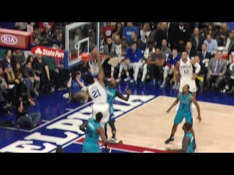 Joel Embiid Poster Dunk Off Pick and Roll | 01.13.17