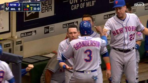 NYM@MIL: Cespedes lines an RBI single to right field