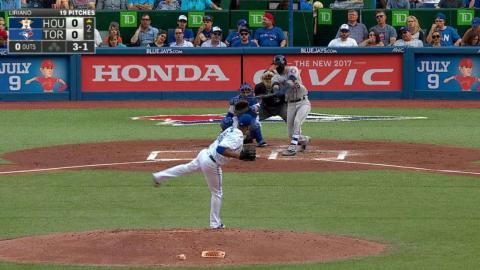 HOU@TOR: Gonzalez hammers a solo homer to left field